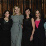 Stephanie Getz, SGC Consulting; Jill McIntosh, Kroger Co.; Geena Davis; Amy Eskoff Garrett, Procter & Gamble; Lisa Vannis, Deloitte; and Amy Armstrong Smith, Brown-Forman