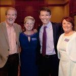 Alzheimer's Association staff members Diana Bosse (second from left) and Annemarie Barnett with Bob Goen and Bob Herzog