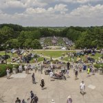 View of the Cincinnati Concours from Ault Park Pavilion
