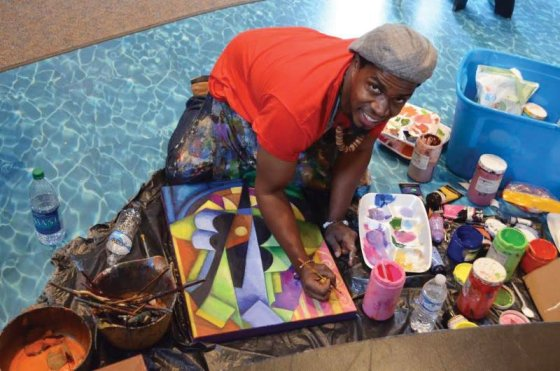 freshARTist Cedric Cox at work during the 2016 event.
