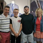 The Weidner family with Adam Duvall