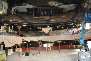 With the drop ceiling down, the second balcony was revealed for the first time in over 70 years.