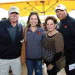 Max Montoya and Anthony Munoz (right), with Munoz's daughter Michelle Muñoz Trenz and his wife, DeDe Muñoz
