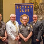 Deputy Terry Harper, Rotary Club of Cincinnati president Al Koncius, Chief Deputy Mark Schoonover, evidence technician Tim Drake and corrections office supervisor Don Evans