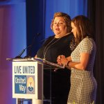 Sarah Rieger and Jamie Carr, United Way volunteers