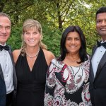 Dave and Erica Johnson with Lisa and Raju Patel