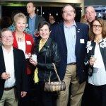Joe Finke, Janet Inkrot, Tina Finke, BHS board president Bob Inkrot, Gary and Denise Justice
