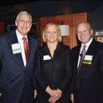 United Way of Greater Cincinnati president Rob Reifsnyder, Meg Whitman and Chris Froman