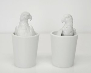 """Parrot Cups,"" part of ""Animal Magnetism"""