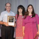 Jerry O'Connell, volunteer coordinator Brooklyn Mulisano, and Jennifer Holladay, manager of volunteers