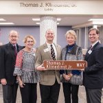The Klinedinst Family, at the street dedication honoring the late Tom Klinedinst: Charles Klinedinst, Lucie Klinedinst Kober, Thomas Klinedinst III, Diana Klinedinst and George Klinedinst