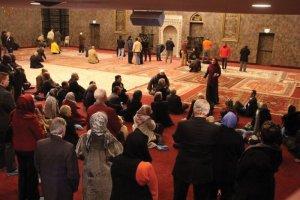 Shabana Shakir-Ahmed and Imam Hossam Musa lead a tour of the mosque.