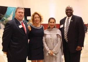 President Dave Armstrong of Thomas Moore College, Leslie Armstrong, Shakila Ahmad and President James Williams of Mount St. Joseph University