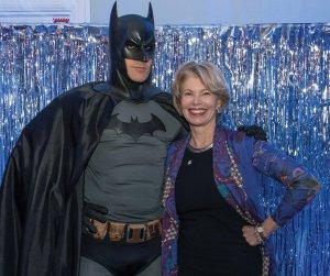 Cathy Crain with Batman