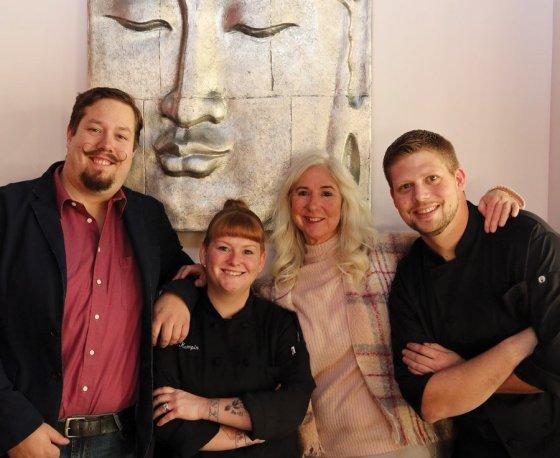Bar manager Paul Elder, executive chef Jen Kempin, Anne Ilyinsky and sous chef David Wukusick