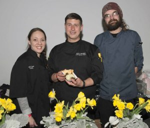 Chef Steve Waddell and the team from Jeff Thomas Catering