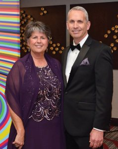 Melissa and Dr. Dallas Auvil, physician champion of the gala