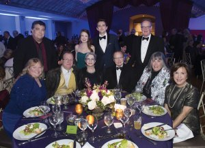 (Standing) Phillip Freer, Elizabeth and Elliot Lucas, David Wellinghoff; (seated) Tracy Palcic, Jim Stapleton and Beth Shaughnessy, Jim Fitzgerald, Lori Wellinghoff and Leslie Fitzgerald