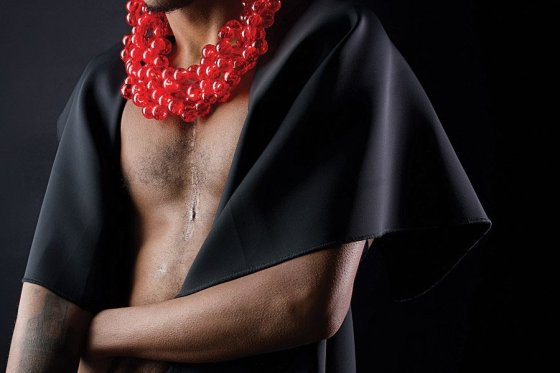 Devon in Red Beads by Tina Gutierrez, digital photograph, 2016