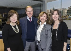 Episcopal Retirement Services CEO Laura Lamb with Dr. Gary Chapman; Paula Kollstedt, executive director of the Alzheimer's Association, Greater Cincinnati; and Jeanne Palcic, director of Parish Health Ministry