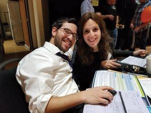 Kayla Soroka and Rabbi Michael Soroka