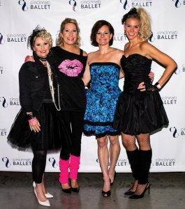 Club B co-chairs Halle Quinn and Christine Lippert with co-vice chairs Shannon Miller and Deb Schaefer