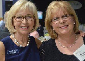Board chair Barbara Bennie with Betty Stenger