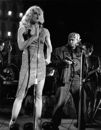 """Todd Almond and a. Beth Harris in """"Hedwig and the Angry Inch."""" (2003) Photo by Sandy Underwood"""