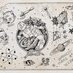 """Flash sheet, """"Kaleidoscope,"""" by Steven Mast, inspired by the Ray Bradbury short story of the same name."""