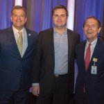 Andy Swallow, president and CEO of the Bethesda Foundation; author J.D. Vance; and Mark Clement, president and CEO of TriHealth