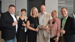 MJ Johnson, board member Julie Johnson, Kelly Fisher, Rob Fisher, board member Jenny Rosenfeld and Erik Rosenfeld