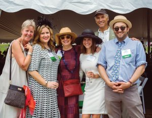 Kathleen Maynard; Lisa Diedrichs, volunteer and sponsor; Cathy Caldemeyer, sponsor, volunteer and Cincinnati Parks Foundation board president; Christine Mezher; Thane Maynard; and Chris Caldemeyer