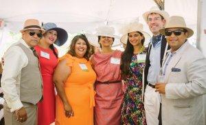 Jay Bedi; Payal Patel; Lindsay Wilhelm, Cincinnati Parks Foundation board secretary; Vineeta Jindal; Anisha Jindal, luncheon volunteer; Jared Queen, foundation development director; and Krutarth Jain