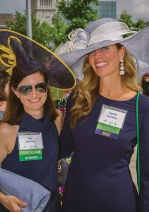 Decor committee co-chairs Jennifer Buchholz (also a sponsor) and Carrie Carothers (2019 luncheon co-chair)