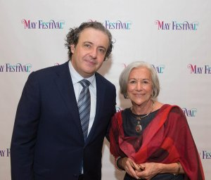 Principal conductor Juanjo Mena with Virginia Motch