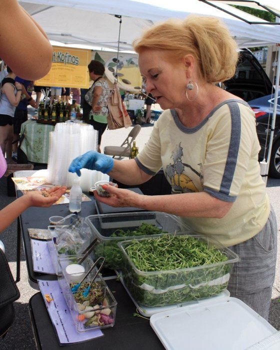 Hyde Park Farmers' Market - LaRel MicroGreen Farm (Milford) sells non-GMO microgreens and heirloom beans. Grower LaRel Grant will tell you microgreens are vegetables harvested when there are only two leaves, which contain all of the vitamins and nutrients from the planted seed. Tiny, but mighty.