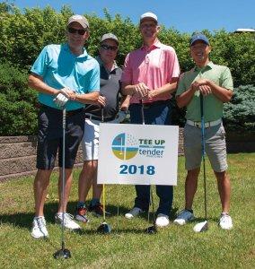 Tender Mercies Golf Dick Thompson, Jim Brown, Aidan Brown and Charlie Luke of Softpak