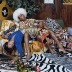 "Mickalene Thomas, ""La leçon d'amour,"" 2008, courtesy of the artist"