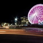 SkyStar Ferris wheel is 150 feet tall and has 1 million LED bulbs.
