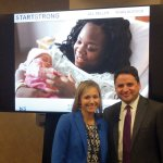 Jill Miller, president of Bethesda Inc., and Ryan Adcock, executive director of Cradle Cincinnati, gave a presentation on the outcomes of StartStrong, a collaborative effort to reduce infant mortality, at the June 2018 Grant Makers in Health annual conference.