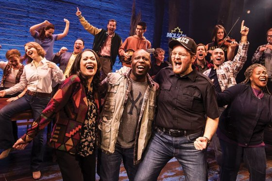 "A scene from the first North American touring production of ""Come From Away"""