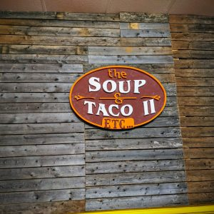 soup and taco, restaurant week, 2018, winter, shiplap, wall, interior