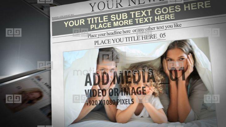思い出の写真や動画が新聞の1面記事に!?思い出のシーンをニュースペーパーにできるテンプレート