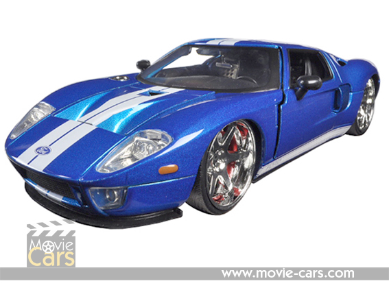 Ford Gt Fast Furious  Movie Blue  Cast Model Car By Jada