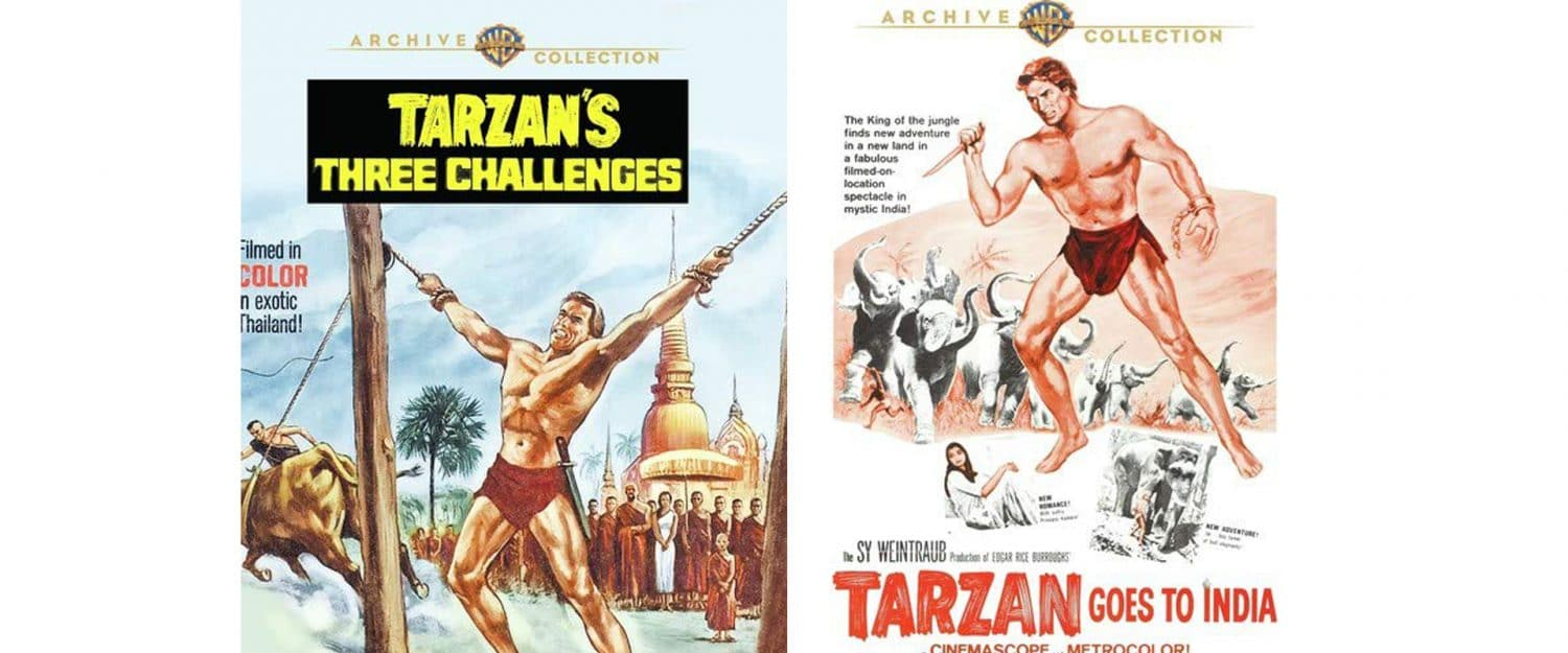 Both Tarzan's Three Challenges and Tarzan Goes to India are available today via Warner Archive.