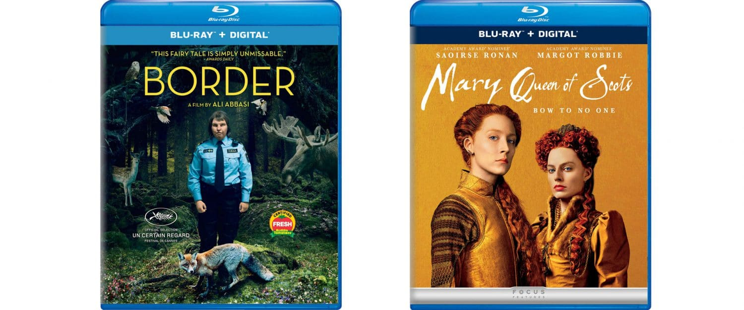 Border and Mary Queen of Scotts are both coming to Blu-ray this week.