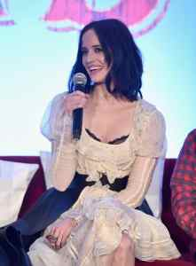 """BEVERLY HILLS, CA - MARCH 10: Actor Eva Green speaks onstage during the """"Dumbo"""" Global Press Conference at The Beverly Hilton Hotel on March 10, 2019 in Los Angeles, California. (Photo by Alberto E. Rodriguez/Getty Images for Disney) *** Local Caption *** Eva Green"""