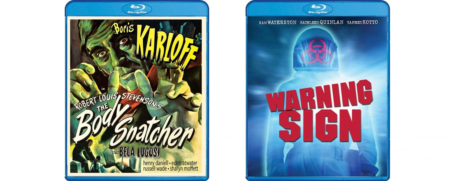 The Body Snatcher and Warning Sign are both coming to Blu-ray this week from Shout! Factory.