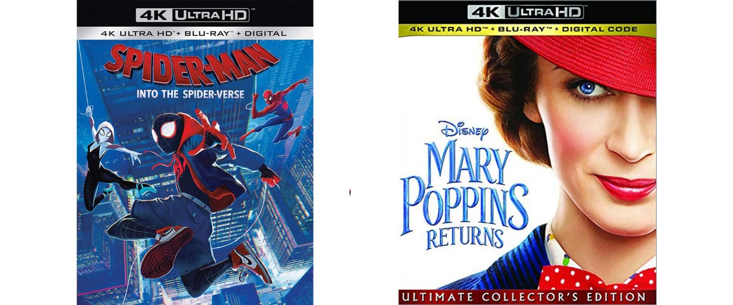 Both Spider-Man: Into the SPider-Verse and Mary Poppins Returns come home on Blu-ray this week.