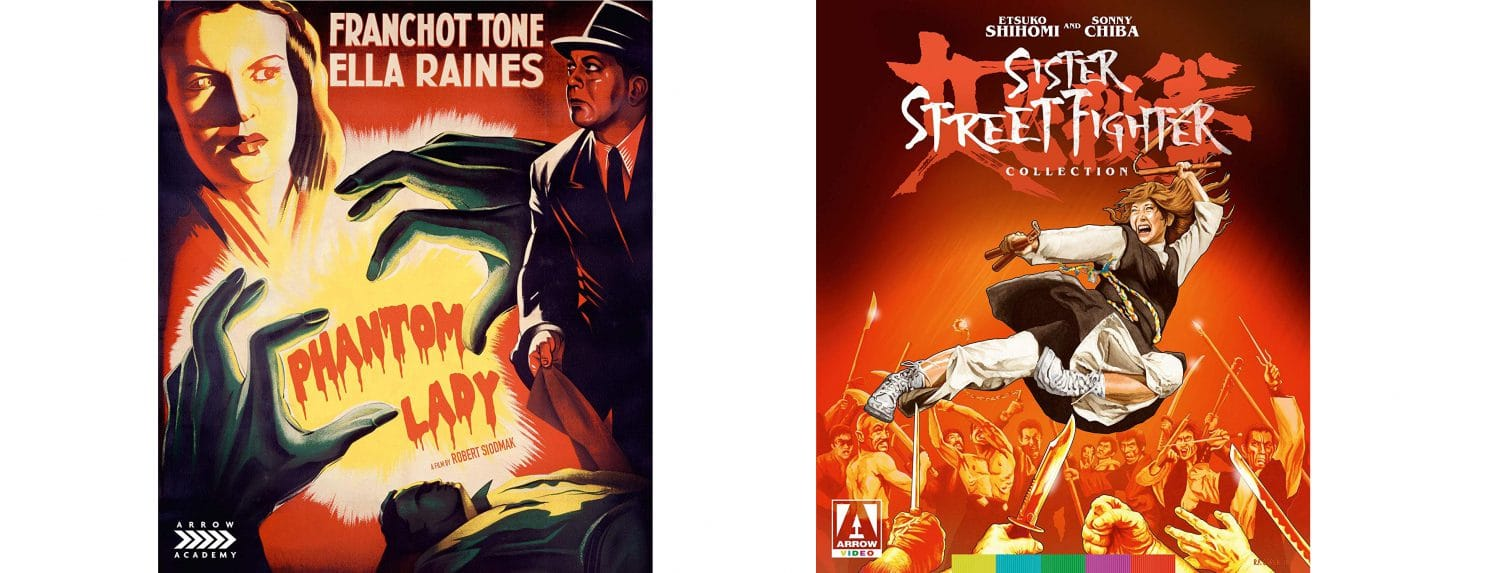 The Phantom Lady and Sister Street Fighter are this week's blu-ray selections from Arrow Video.